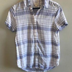 4/$25! Fossil plaid short sleeve button down shirt